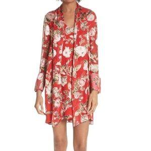 Alice + Olivia Red Floral Dress